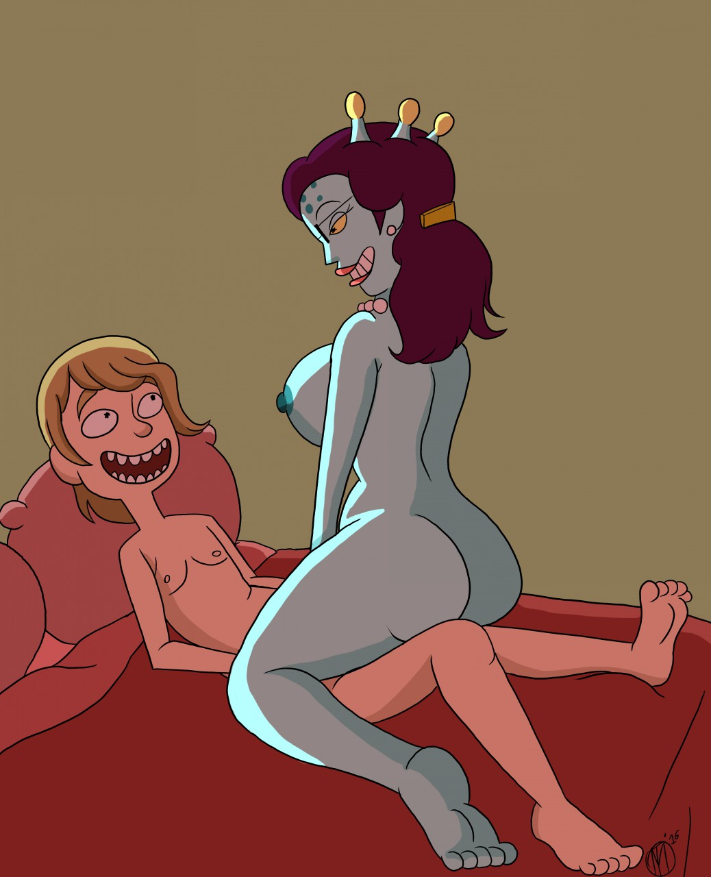 dancer rick and dinosaur morty Fosters home of imaginary friends porn