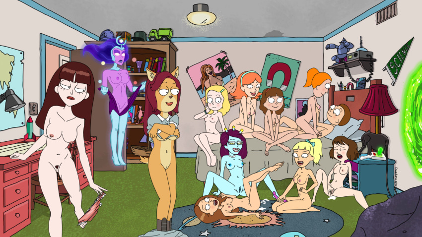 and jessica naked morty rick Maiden with eyes of blue hentai